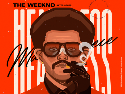 The Weeknd - After Hours 🌹 crazy abstract character venezuela art cool color creative illustration design
