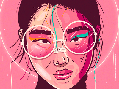 Saturn 🌺 crazy beauty character venezuela cool art color creative illustration design