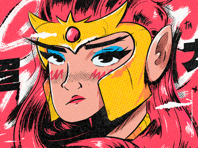 Warrior 超力 - brush venezuela cool art color creative illustration design