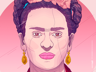 Frida Kahlo beauty creative cool color ilustration design fridakahlo