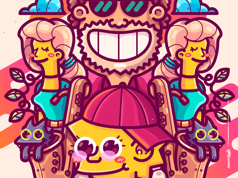The Styler Simpsons - Lisa S. blue relax abstract cute crazy character beauty venezuela art cool creative color illustration design lisa simpson