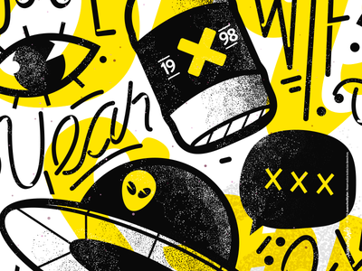 Brand 2019 yellow relax abstract crazy character beauty venezuela art cool creative color illustration design