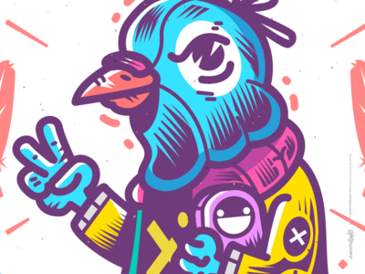 Palomo Chido. cute abstract crazy character beauty venezuela art cool creative color illustration design