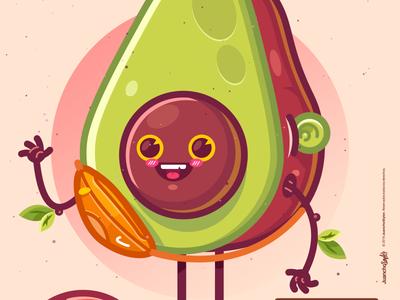 Aguacate Fresh 🥑 abstract crazy venezuela creative color illustration design cartoons art aguacate