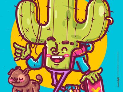 Cactus Chevere. crazy character beauty venezuela cool art creative color illustration design