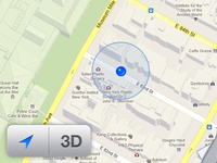 Location / 3D iOS 6 button