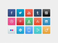 [PSD] Social icon