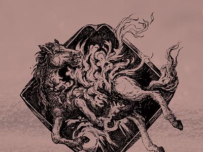 Remission mastodon metal inkdrawing horse penandink fanart illustration