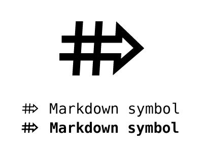 Markdown symbol markdown logo icon symbol