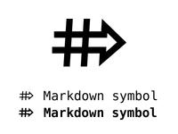 Markdown symbol