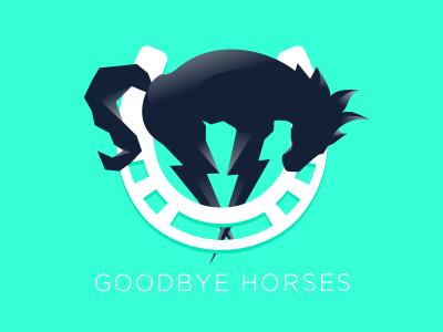 Horse shoe logo logo goodbye horses pony