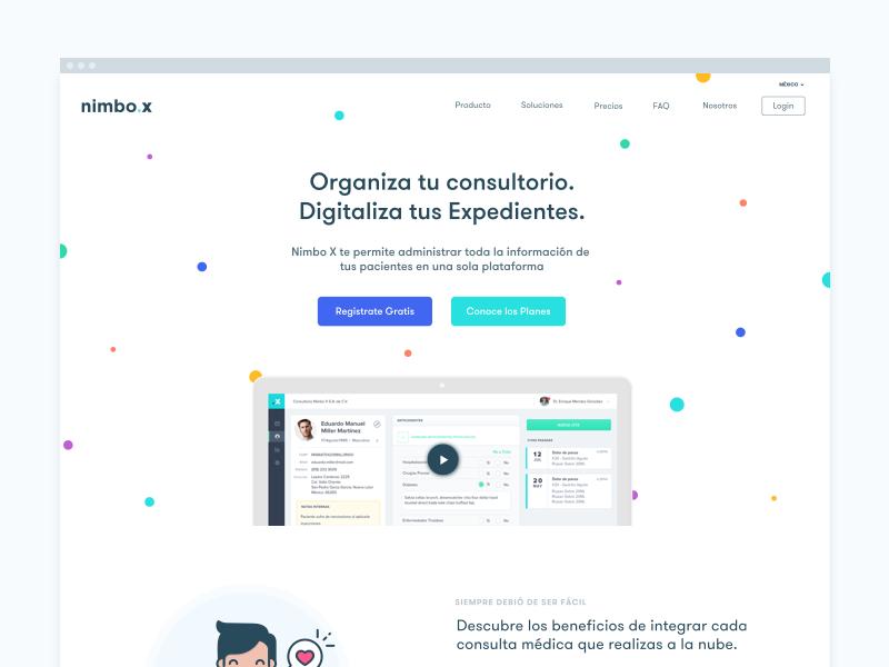 Nimbo X new website ui ux website design webdesign wireframe page landing layout website