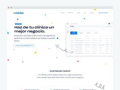 Nimbo Business Landing page