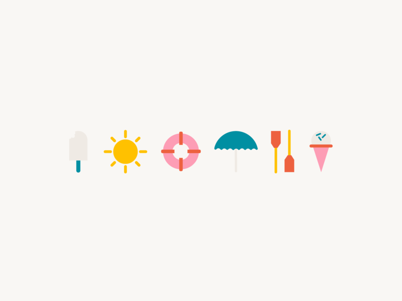 Summer Icons by Maki Miller on Dribbble