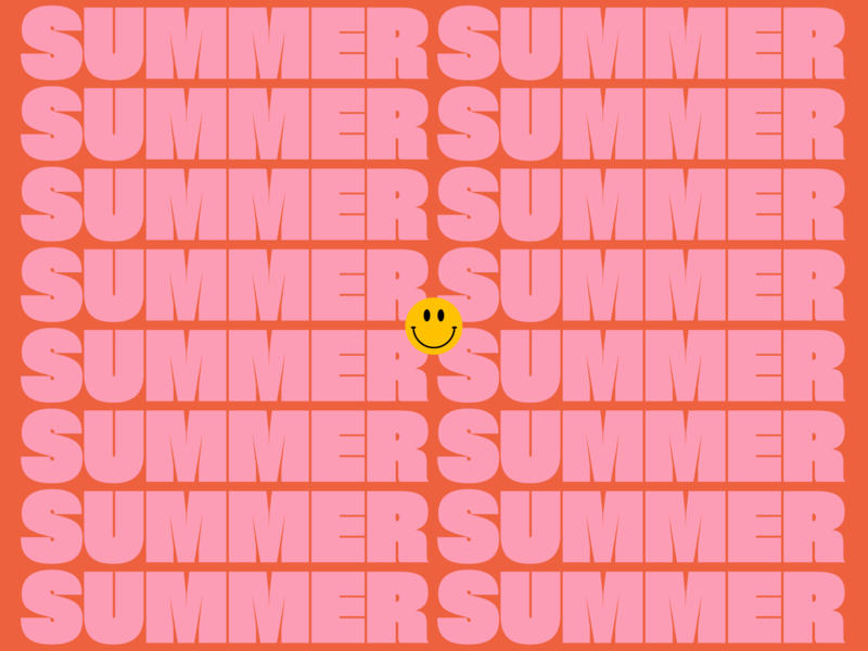 ECS Internship 2019 branding design smiley face smiley summer summer camp