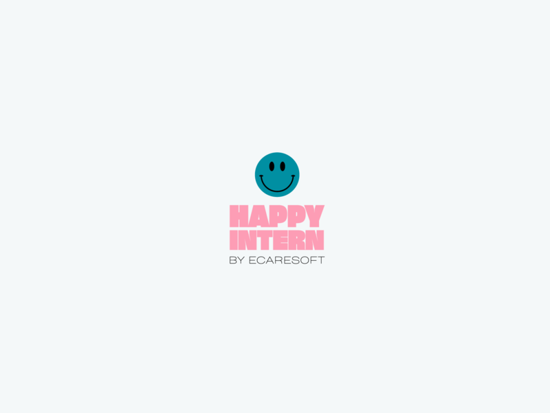 Happy Intern vector branding illustration icon logo smiley face smiley internship intern