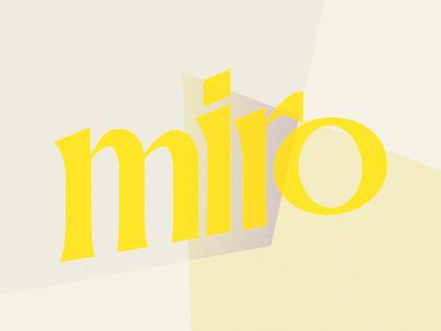 Miro Logo orleans new branding logo miro