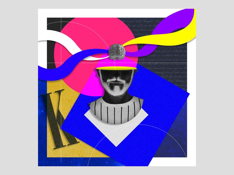 Collage 7 colors shape digitalart brain blackandwhite person typogaphy design photoshop adobe photoshop adobe collage art collage maker collage