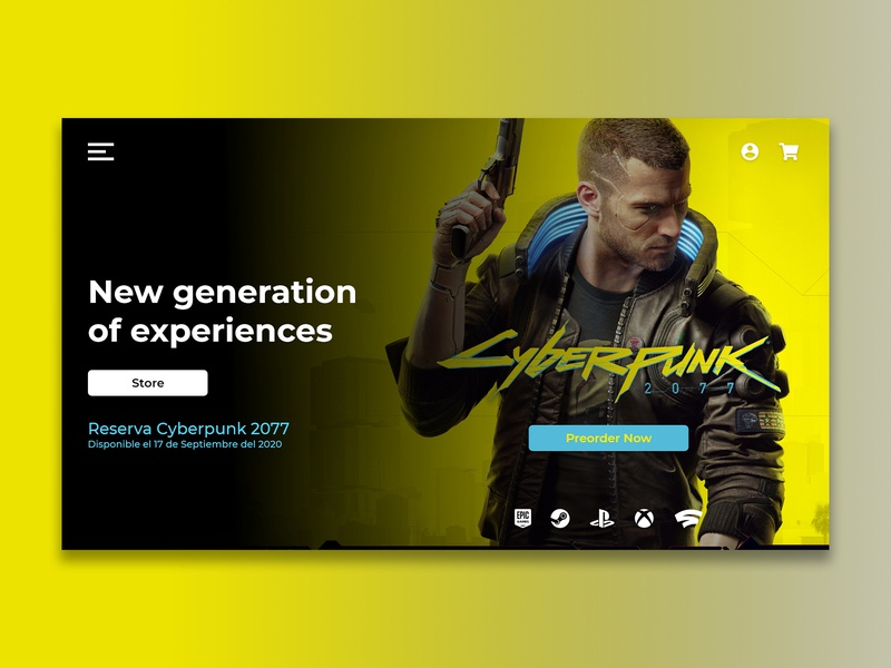 Game store design store page landingpage landing cyberpunk gaming game webpage website web userexperience userinterface uidesign uxdesign ui uxui ux