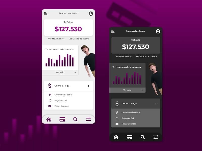 Bank App 3d art cards ui design ux design bills money bank app xd adobexd ux uiux ui