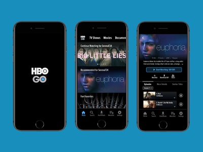 HBO Go iOS Mobile App Redesign