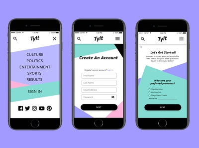 The Tylt User Profile Design [Pt1]