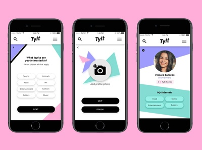 The Tylt User Profile Design [Pt2]