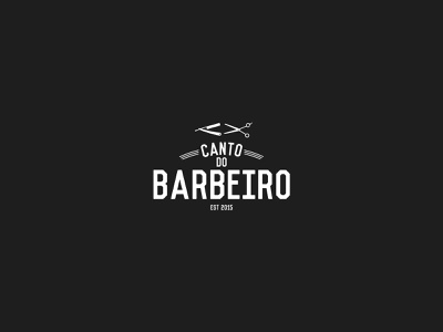 Logo Design - Canto do Barbeiro flat typography branding design logo