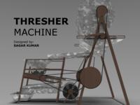 Thresher Machine Design & Rendering