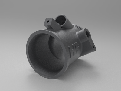 IC Engine Air Intake System Component Rendering