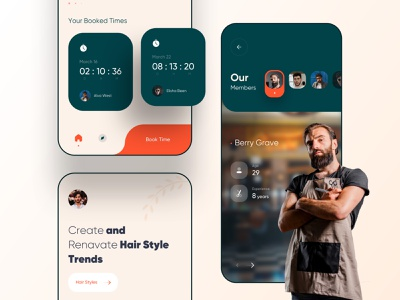 Barber shop mobile app concept classic trend application hairstyle online booking online shop barber shop barber mobile ui mobile app mobile minimalism clean ui clean app ui app design app uidesign ui minimal