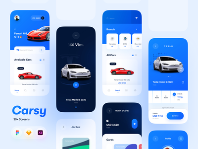 Carsy UI Kit rent app car rent car rental shopping rental app rental car car ui8 kit ui kit mobile mobile app minimalism clean ui clean app ui app design minimal app ui