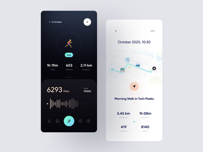Step Tracker App Concept goal calories location map fitness health tracker step tracker step mobile app design uidesign minimalism clean ui clean app ui app design minimal app ui