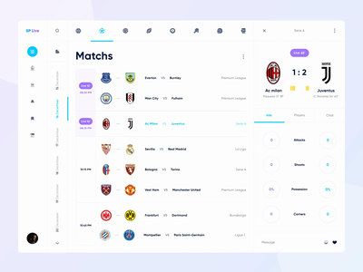 Sports Live Web UI Animation ⚫️⚪️ web live chat chat players chart sports sport football live interaction animation mobile design uidesign clean ui clean app ui app design app ui