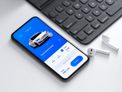 🔵 Carsy UI Kit | 30+ Screens products tesla car app rent app rental app rentals rent car rental car mobile app mobile uidesign minimalism clean ui clean app ui minimal app design app ui