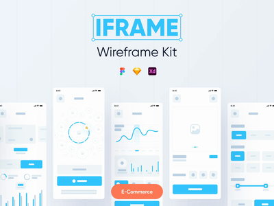 IFRAME wireframe kit | 100+ Screens & 220+ Components 💎 finance fitness health ecommerce music player workout categories kit ui kit wireframe kit wireframe mobile app mobile minimalism clean ui clean app app ui app design ui