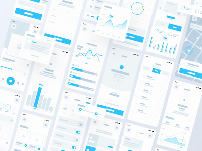 IFRAME wireframe kit | 100+ Screens & 220+ Components 📏 profile subscription map finance fitness socialmedia chart elements ui kit kit wireframe kit wireframe minimalism clean ui clean minimal app ui app design app ui
