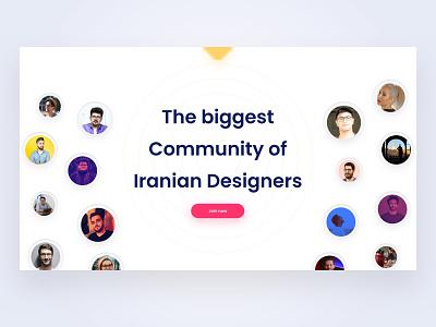 Iranian Designer✌🏻 iran community minimal website web ux uidesign ui design