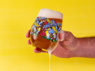 Wellington brewery, glassware design