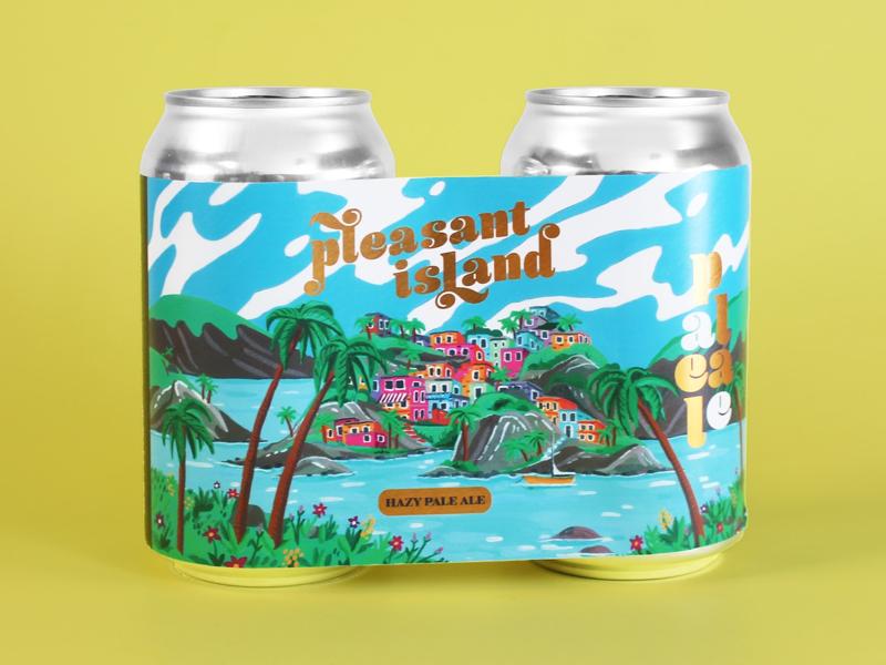 Pleasant island island gold beerlabels beer