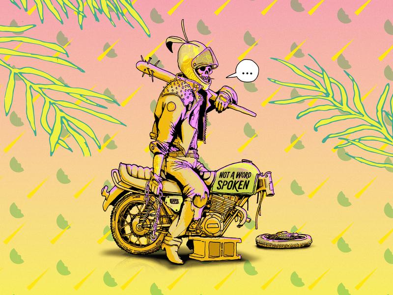 Not a word spoken design branding beerlabels illustration