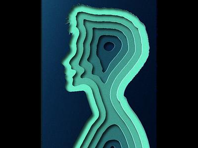 Illusions of Depth paper cutout cutout paper illustrator design