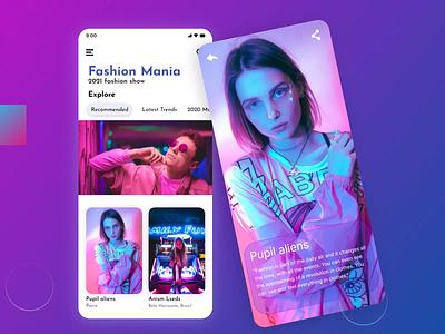 Fashion Mania UI/UX Design app graphic mobileapp uiux fashion