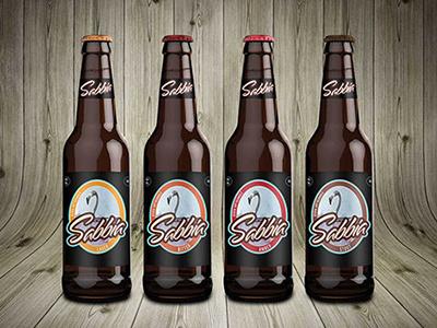 Sabbia Beer beer label packaging