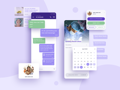 Mobile App Design for Fertility Benefits Platform mobile application design platform purple app design ui design ux design mobile design mobile app app interface ux ui london typography vector graphicdesign branding billieargent design