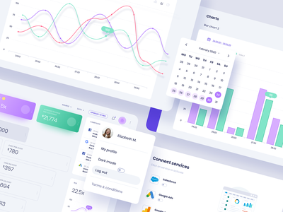 Web App for Marketing Analytics Software - Nymble design theme webapplication website app app ux app ui website design ux design ui design webapp design purple interface illustration webdesign london typography vector graphicdesign branding billieargent design