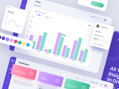 Web App for Marketing Analytics Software - Nymble uxui ux ui ux design ui design diagrams purple web design webapplication webapp design web app illustration london typography vector graphicdesign branding billieargent design