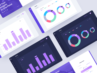 Web App for Marketing Analytics Software - Nymble purple illustraion designs webapplication ui desgin ux desgin ux graphic design application web application webapp design webapp ui london typography vector graphicdesign branding billieargent design