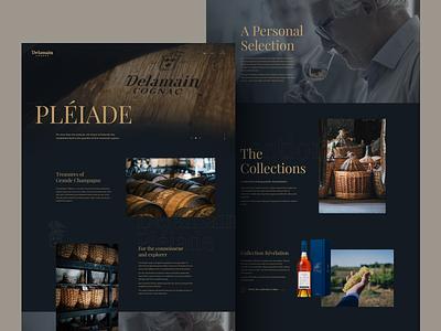 Website Design for Delamein Cognac uiuxdesign custom design cognac dark ui ux design ui design web design website website concept website design interface web illustration webdesign london typography vector graphicdesign billieargent design