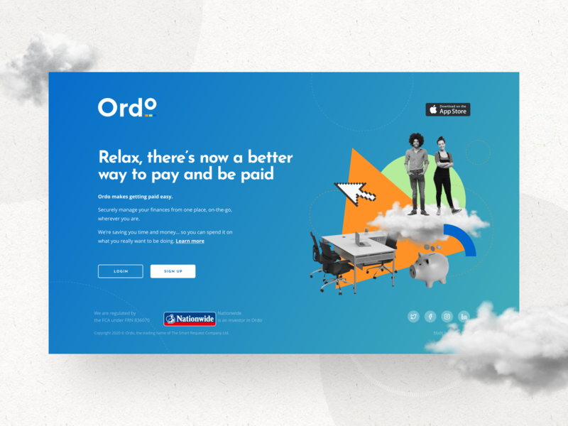 Web and Mobile version for Ordo Website payment system webdesign ux design ui design custom made website concept mobile app design mobile ui mobile design website design web illustration ui ux interface london typography vector billieargent design